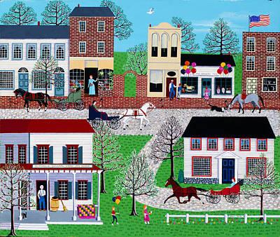 Commerce Street Art Print