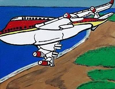Painting - commercial aviation painting. Original. by Jonathon Hansen