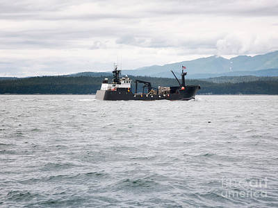 Transportation Photograph - Commercial Crab Fishing Vessel Near Juneau, Alaska by Dani Prints and Images