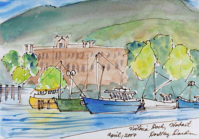 Painting - Fishing Boats In Hobart's Victoria Dock by Dorothy Darden
