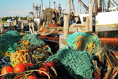 Priska Wettstein Pink Hues - Commercial Fishing Vessel by James Kirkikis
