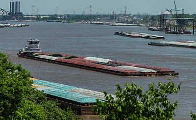 Photograph - Commercial River Traffic On The Mississippi by Garry McMichael