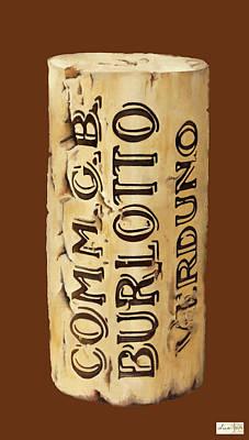 Wine Painting - Comm.gb Burlotto by Danka Weitzen