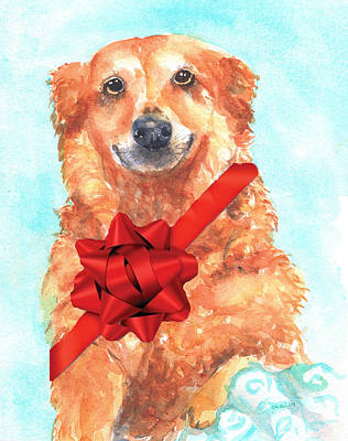 Painting - Commission Dog Portrait by Carlin Blahnik