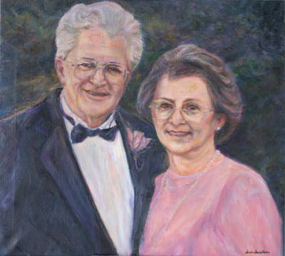 Painting - Commissioned Portrait Painting by Quin Sweetman