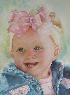 Commissioned Toddler Portrait Art Print