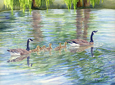 Canadian Geese Painting - Commitment by Malanda Warner