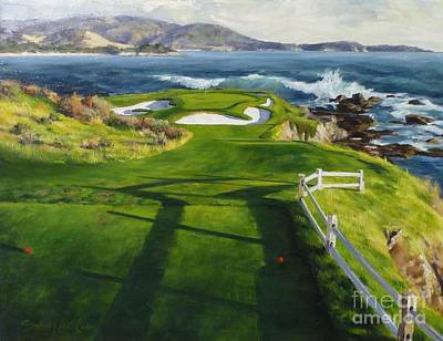7th Hole Painting - Commitment by Shelley Cost