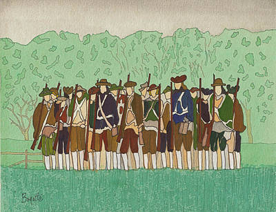 Minuteman Painting - Committeemen On The Green by Robert Boyette