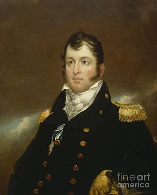 Military Uniform Painting - Commodore Oliver Hazard Perry by John Wesley Jarvis