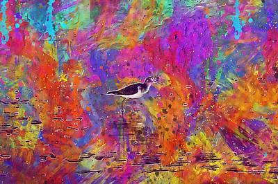 Sandpiper Digital Art - Common Sandpiper Bird Beach Wader  by PixBreak Art