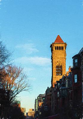 Commonwealth Avenue In Boston Art Print
