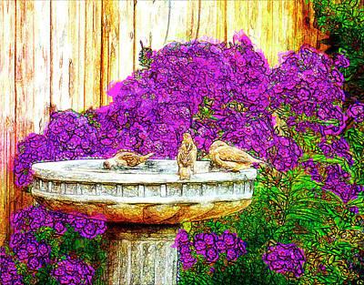 Digital Art - Communal Bath by Leslie Montgomery