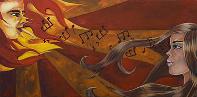 24x48 Painting - Communication With The Sun by Victoria Dietz
