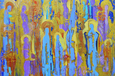 Abstract Expressionism Wall Art - Painting - Communion Of Saints by Elise Ritter