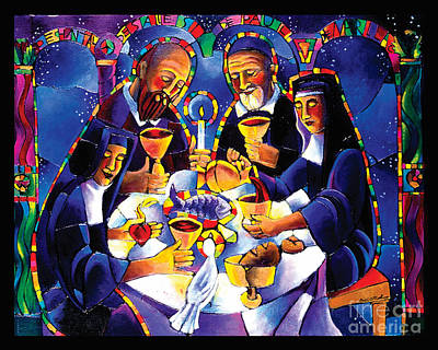 Painting - Communion Of Saints - Mmcsa by Br Mickey McGrath OSFS