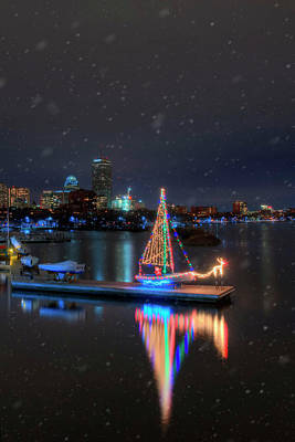 Photograph - Community Boating Christmas Boat - Boston by Joann Vitali