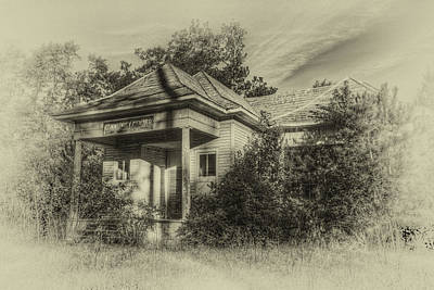 Photograph - Community Center II In Sepia by Harry B Brown