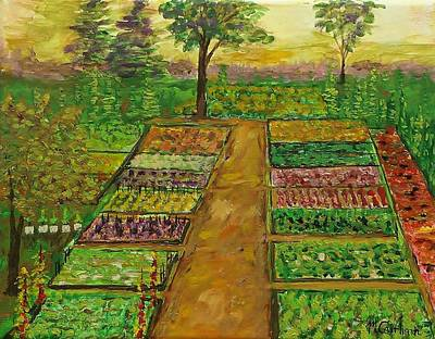 Painting - Community Garden by Mike Caitham