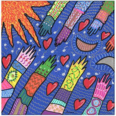 Community Art Print by Sharon Nishihara