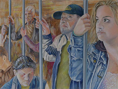 Painting - Commuters 2 by Marty Garland