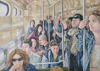 Painting - Commuters by Marty Garland