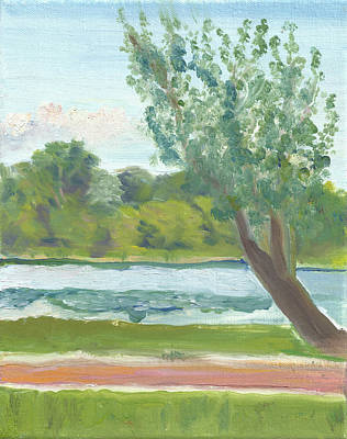Painting - Como Lake By The Pavilion by Paul Thompson