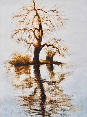 Painting - Como Lake Reflections by Sher Nasser