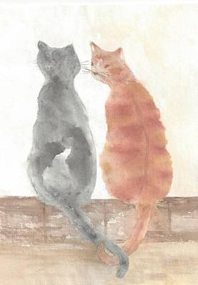 Painting - Companion Cats by Terri Harris