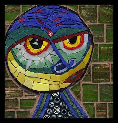 Millefiori Painting - Companion To Klee - Fantasy Face No.15 by Gila Rayberg