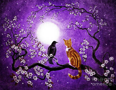 Raven Digital Art - Companionable Silence by Laura Iverson
