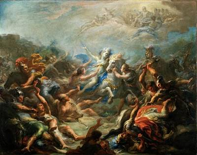 Virgil Painting - Camillia At War From Virgils Aeneid by Giacomo del Po