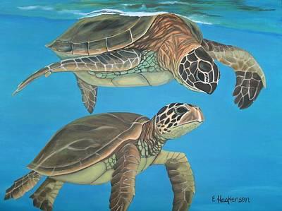 Companions Of The Sea Original by Elaine Haakenson
