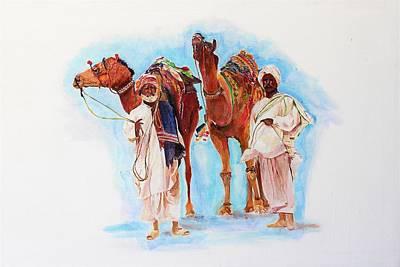 Painting - Companionship by Khalid Saeed