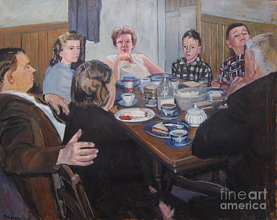 Boston Painting - Company by Deb Putnam