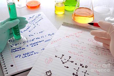 Comparing Scientific Notes Art Print