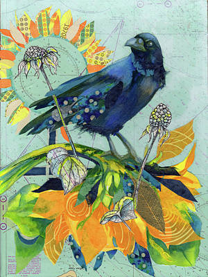 Painting - Compass Crow by Peggy Wilson