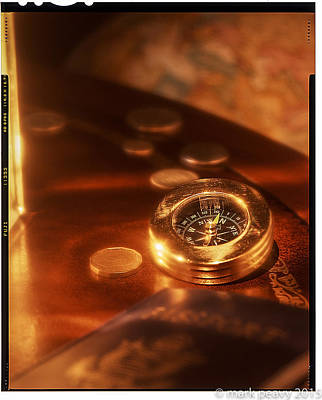 Photograph - Compass by Mark Peavy
