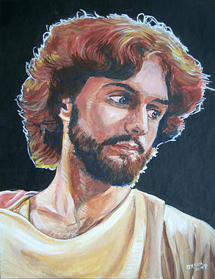 Painting - Compassionate Christ by Bryan Bustard