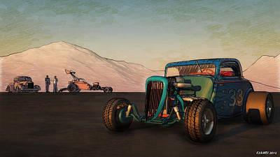 Salt Flats Digital Art - Competition Coupe 33 by Ken Morris