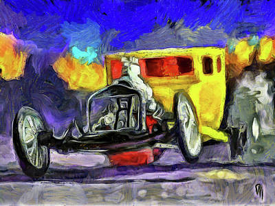 Competition Coupe Van Gogh Art Print