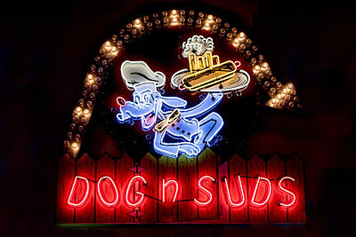 Coca-cola Signs Photograph - Dog N Suds by Jon Berghoff