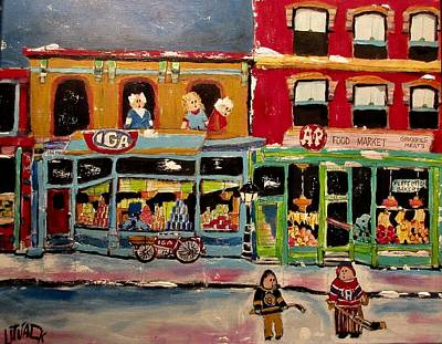 Litvack Painting - Competition On Main Street by Michael Litvack