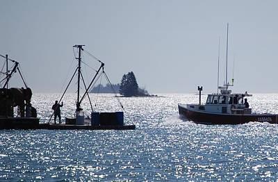 Lobstermen Photograph - Competitors by Dale R Preston