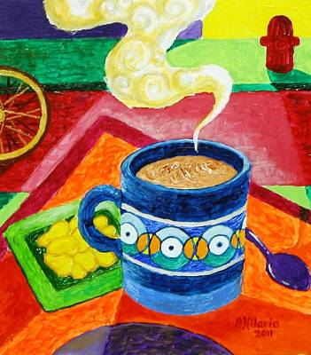 Complementary Coffee 2 Art Print by Paul Hilario