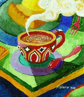 Complementary Coffee 3 Art Print by Paul Hilario