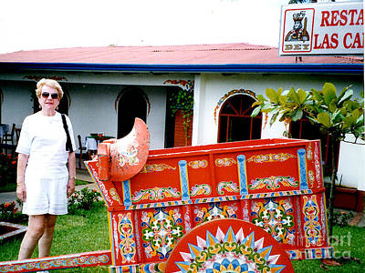Photograph - Completed Painted Animal Cart - Costa Rico by Merton Allen