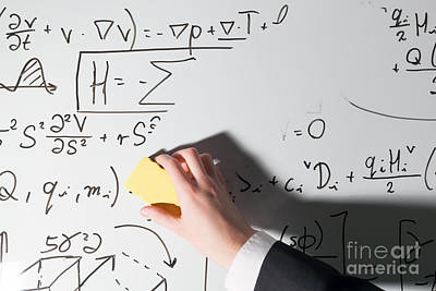 Whiteboard Photograph - Complex Math Formulas by Michal Bednarek