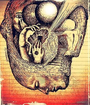 Complex Paths Art Print by Paulo Zerbato