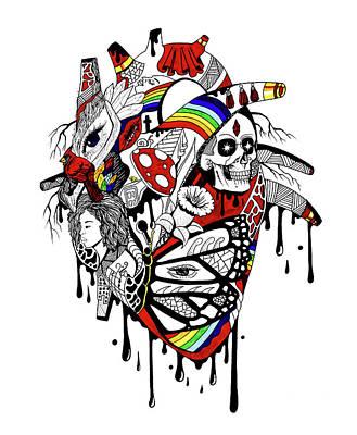 Complex Pride Heart Art Print